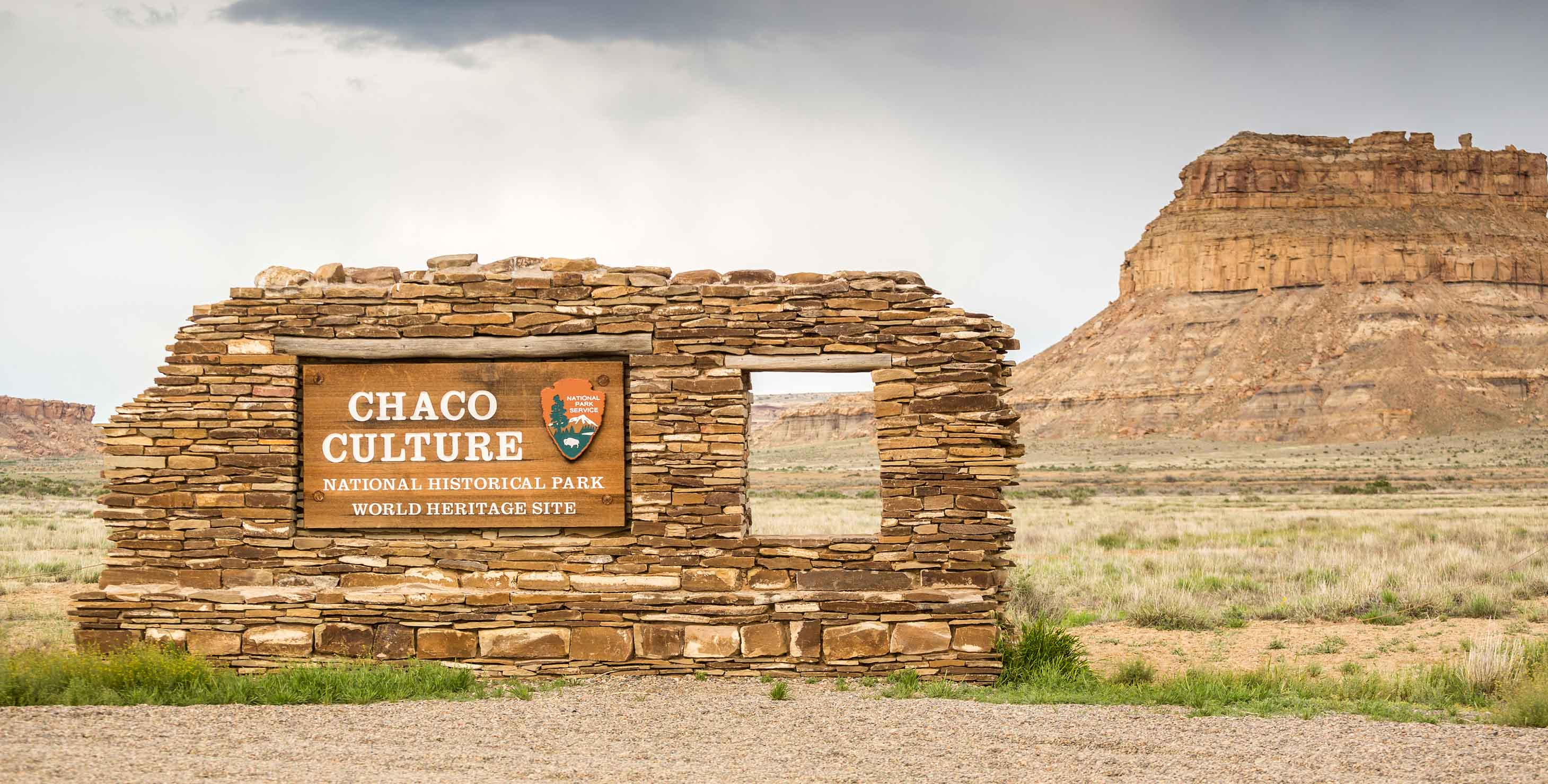 Chaco Canyon National Historical Park Sign