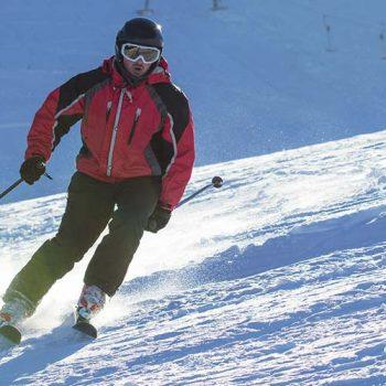 Man skiing down a mountain